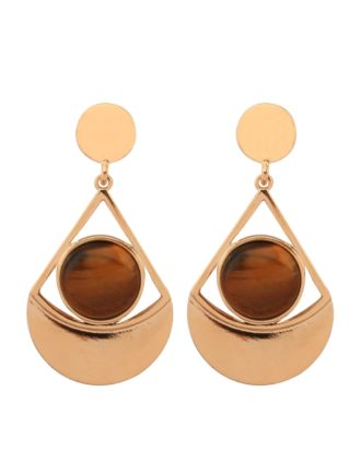 Bronze Over The Moon Earrings