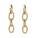 Chain Drop Embellished Hoop Earrings