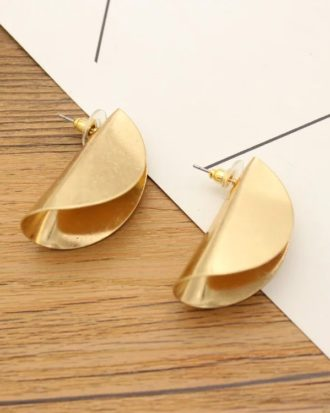 Gold Lapelled Earrings