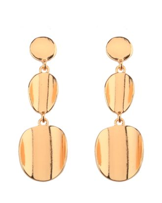 Gold Plated Dangling Earrings