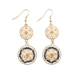 Hollow Filigree Beads Drop Earrings