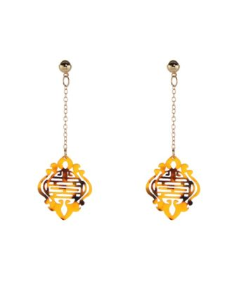 Oriental Bronze Earrings