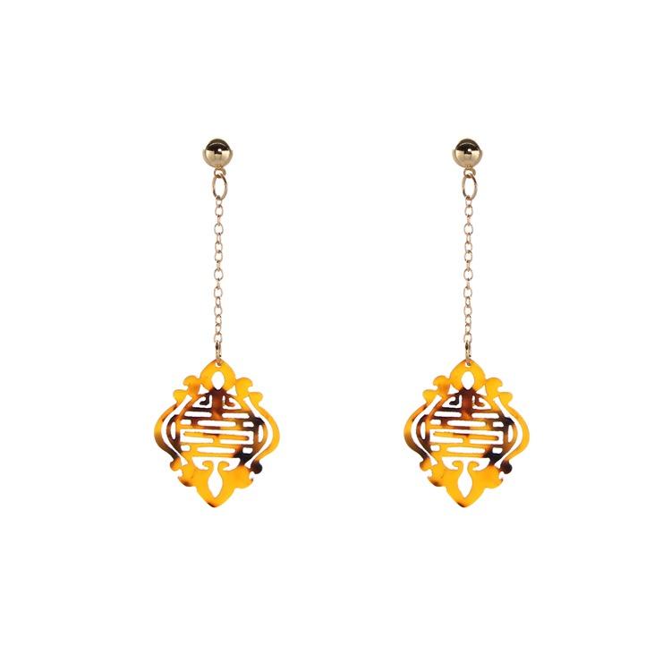 Oriental Bronze Earrings