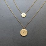 Gold Coin Third Eye Necklace
