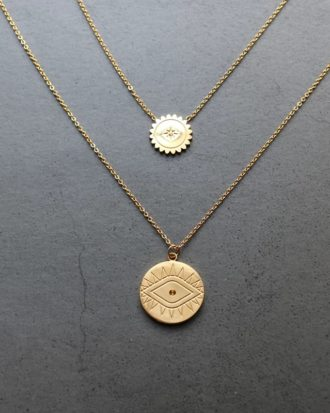 Gold Coin Necklace 2