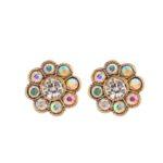 Iridescent Flower Earrings